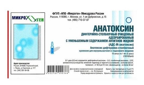 От чего прививка АДС-М