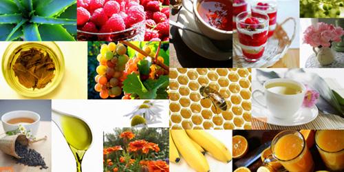 коллаж продуктов для повышения иммунитета
