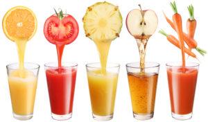фрукты, овощи и сок из них