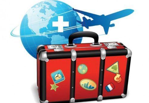 чемодан и самолет рисунок