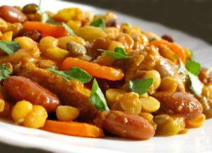 блюдо, приготовленное из фасоли