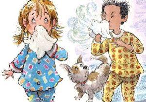 дети чихают рисунок
