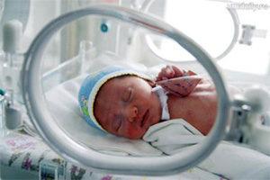 фото недоношенного ребёнка в барокамере