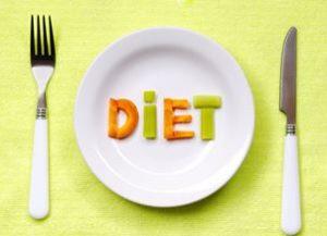 тарелка с надписью diet