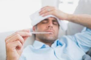 у мужчины температура