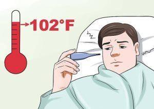 у человека высокая температура