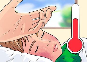 картинка с ребёнком больного скарлатиной