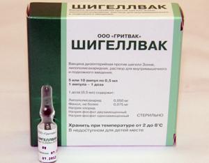 вакцина против дизентерии