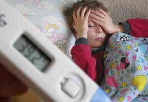 у ребёнка высокая температура