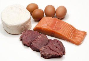 яйца, рыба, мясо, сыр