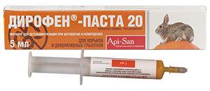 глистогонное средство для кроликов «Дирофен-Паста 20»