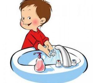 мальчик моет руки рисунок
