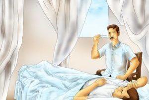 доктор осматривает лежачего больного