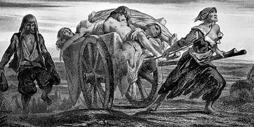 картина чумы в средневековой Европе