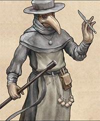 рисунок облачения доктора во время чумы в средние века