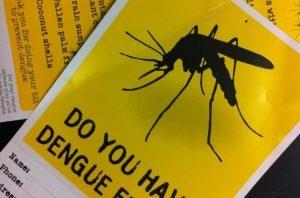 буклет, предупреждающий о лихорадке Денге